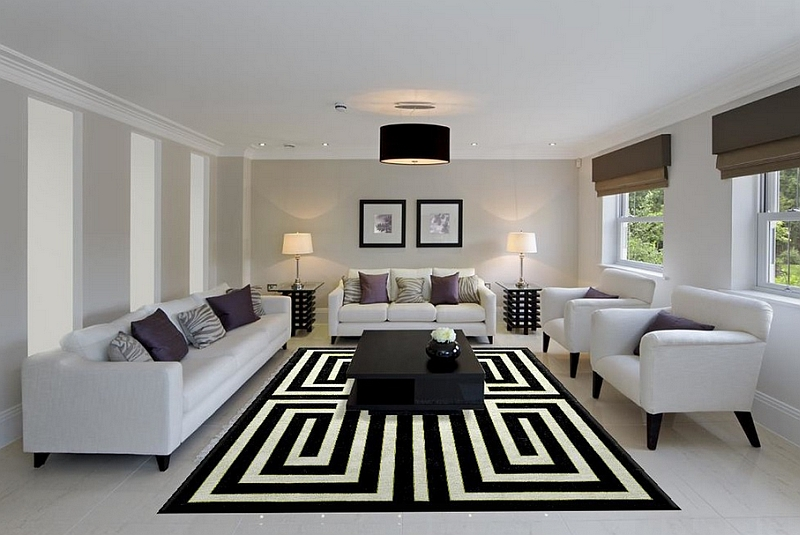 Captivating Rug Ensures That This Cool Living Room