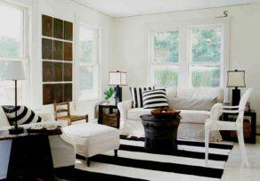 7 Black and White Inspired Living Room Design