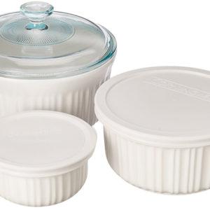 Corningware French White 6pc Bakeware Set 1074887