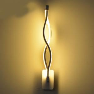 16W LED Fancy Wall Lamp Black