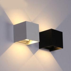 6W LED Waterproof Modern Style Lamp Black