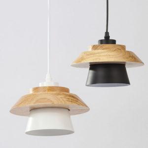 Aluminum Wood Pendant Light