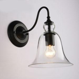 Retro Glass Lamp Shade Black