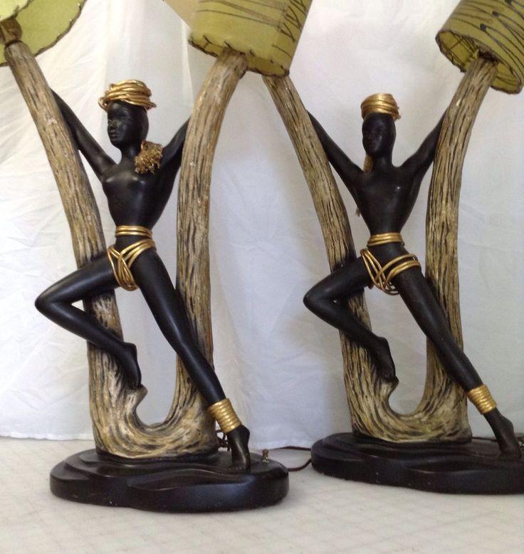 African Corner: African Floor Lamps.