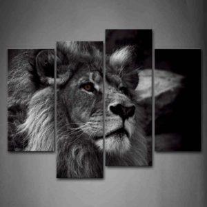 Lion Head Portrait Wall Art