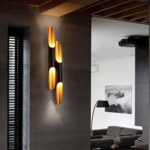 BLACK EXOTIC LED WALL LIGHT
