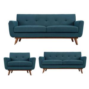 Azure Green Three Seater Sofa