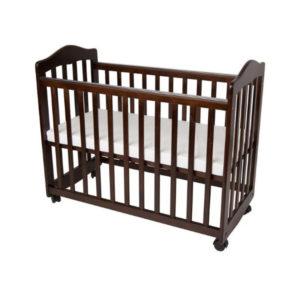 Dark Brown Baby Crib
