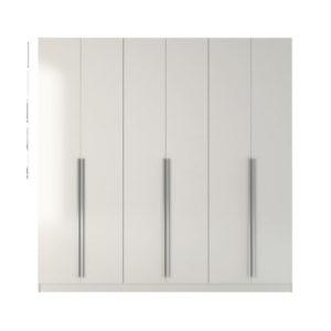 Glossy White Colored Wardrobe