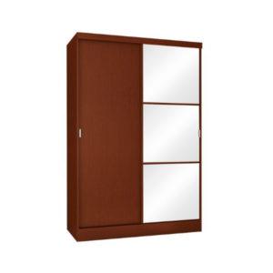 Three Panel Mirrored Wardrobe
