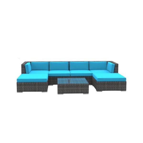 Sea Blue Outdoor Sofa Set